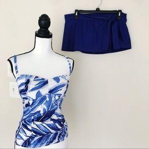 NWT Tommy Bahama 2 Piece Spanish Blue Swimsuit